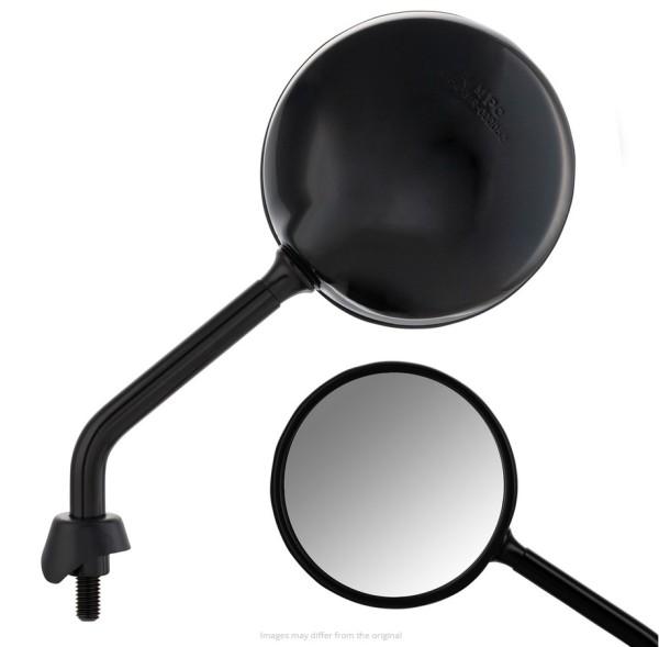 Specchio Shorty per Vespa, nero lucente, destro e sinistro