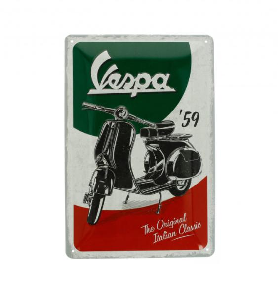 Vespa piastra metallica Vespa Italian Classic
