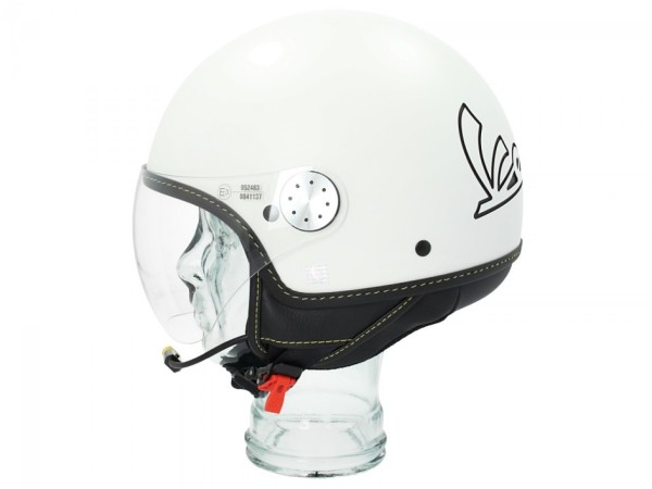 Vespa casco jet Visor Bluetooth 3.0 bianco