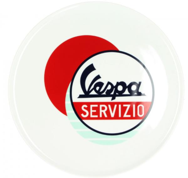 Vespa piastra Servizio bianco blu rosso