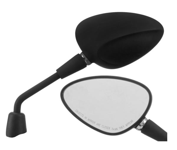 Specchio Shorty nero opaco destro e sinistro per Vespa Sprint 50-150ccm 2T / 4T