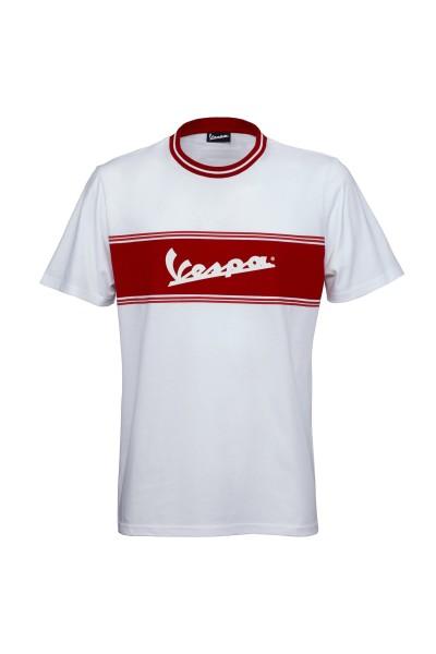 T-Shirt Vespa Racing Sixties anni '60 bianca / rossa