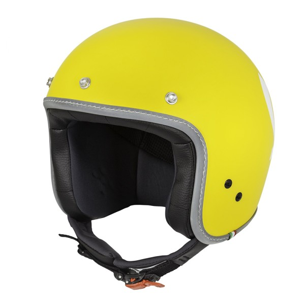 Vespa Casco Color Jet giallo