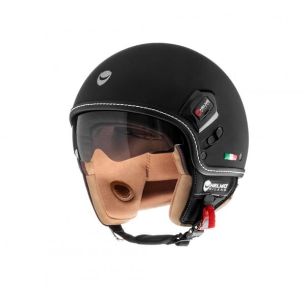 Helmo Milano Demi Jet, Puro Premium, nero opaco