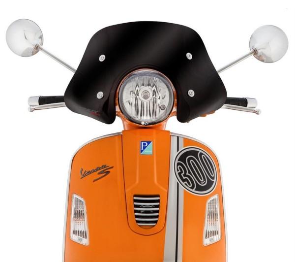 Parabrezzino Piccolo per Vespa GTS/GTS Super/GT/GT L 125-300ccm, nero sfumato