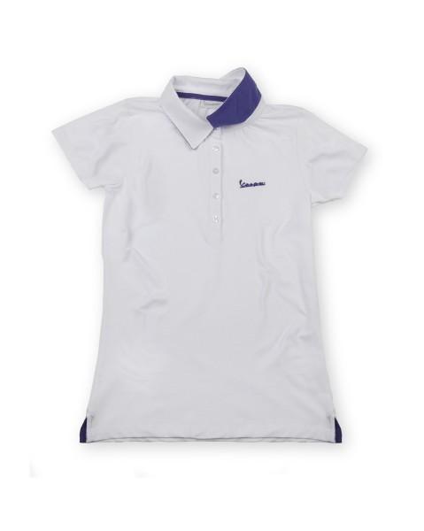 "Vespa Polo ""Vespa Logo"" donna bianco"