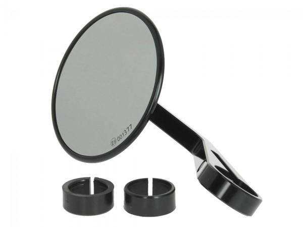 Specchio manubrio Highsider Montana per Vespa sinistra o destra, nero