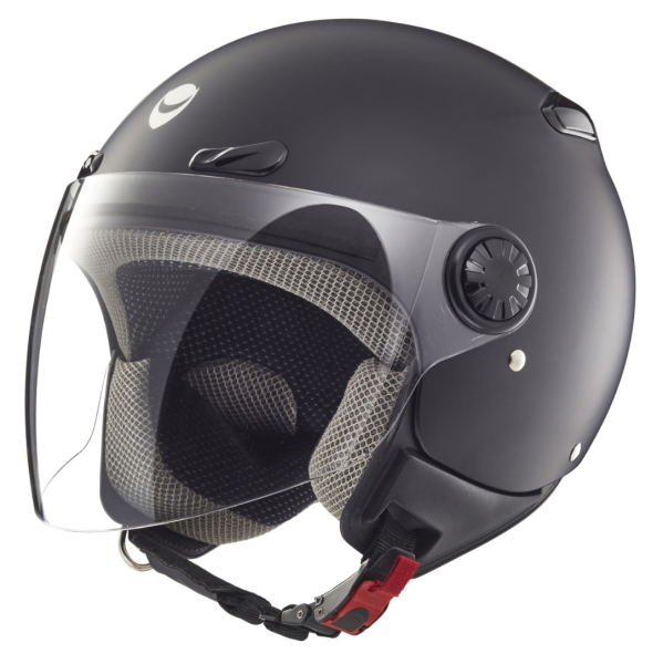 Helmo Milano casco jet, Oscuro, nero opaco