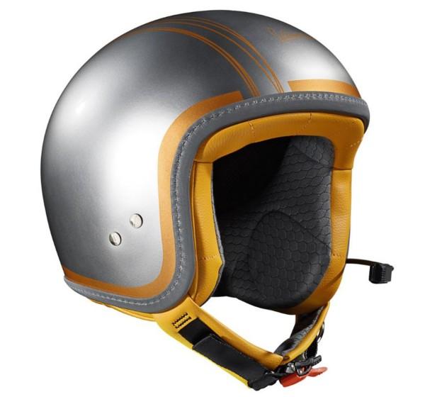 Originale casco Vespa Elettrica Con blutooth silver / orange