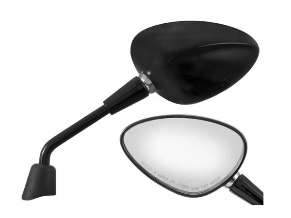 Specchio Shorty nero destro e sinistro per Vespa Sprint 50-150ccm 2T / 4T