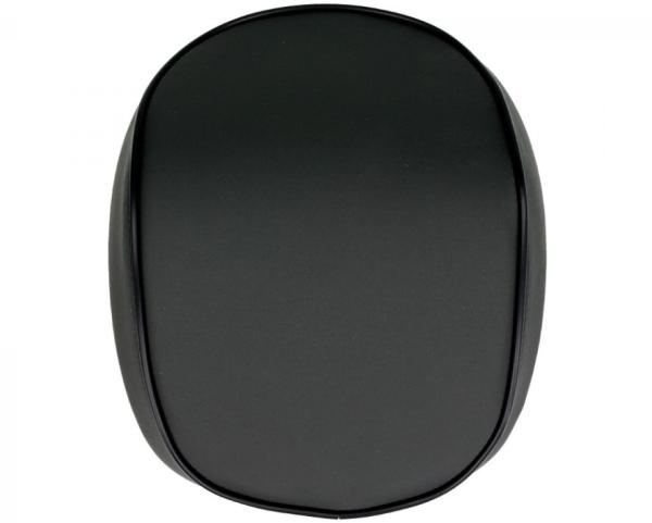 Original schienalino bauletto Vespa Primavera / Sprint, nero opaco con bordino nero