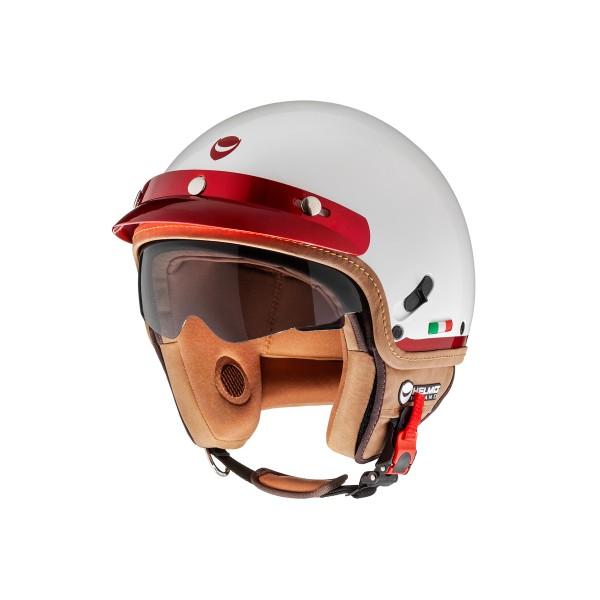 Helmo Milano DemiJet, FuoriPorta, white, red