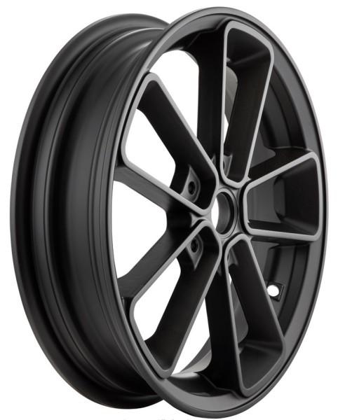 """Cerchione anteriore/posteriore 13"""" per Vespa GTS/GTS Super/GTV/GT 60/GT/GT L 125-300ccm, nero opaco"""