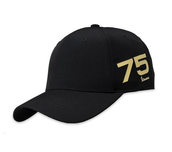 Cappellino Vespa 75 anni - nero