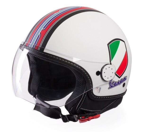 Vespa Casco Jet V-Stripes, bianco