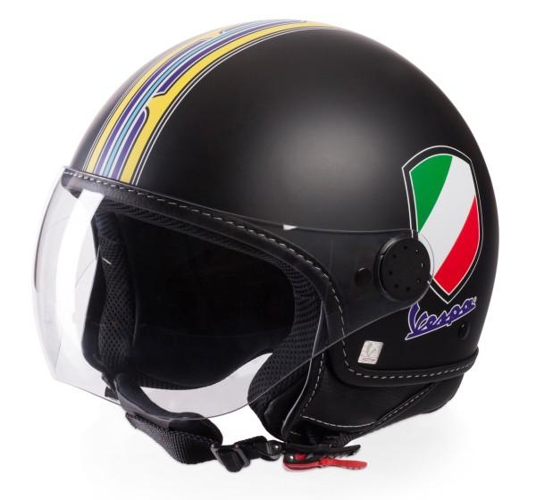 Vespa Casco Jet V-Stripes, nero