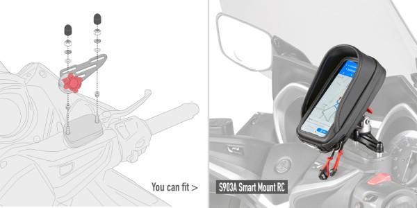 Kit di montaggio per la staffa S903A per serbatoio liquido freni su manubrio Original Givi
