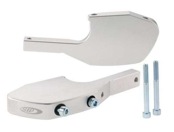 Adattatore poggiapiedi passeggero per Vespa GTS/GTS Super/GTV/GT 60/GT/GT L 125-300ccm, argento opaco