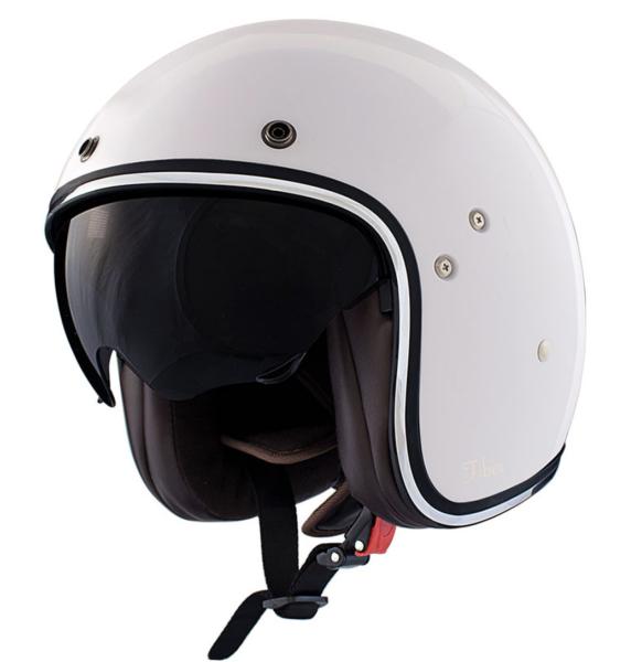 Shiro Casco Jet, SH235, Fiber, bianco