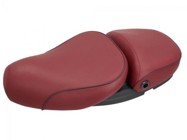 Sella Vespa 2 posti in vera pelle rossa per LX 50-150cc Touring, ET2 / ET4 / LX / LXV / S 50-150cc-