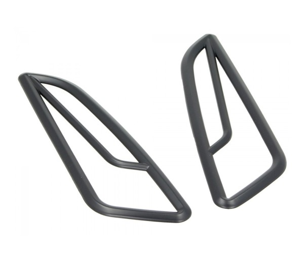 Griglia di segnalazione, anteriore, nera, per Vespa Primavera / Sprint 50-150