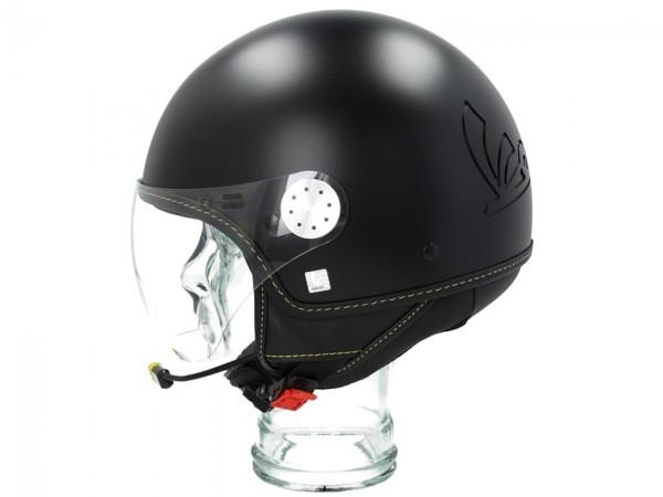 Vespa casco jet Visor Bluetooth 3.0 nero