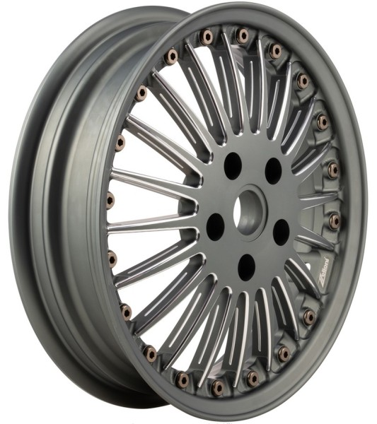 Cerchione Sport Classic anteriore/posteriore per Vespa GTS/GTS Super/GTV/GT 60/GT/GT L/946 125-300ccm, grigio opaco