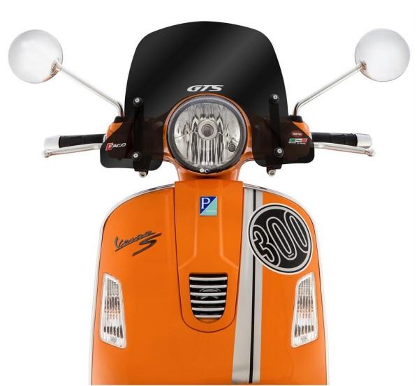 Parabrezza semialto per Vespa GTS/GTS Super/GT/GT L 125-300ccm, sfumato