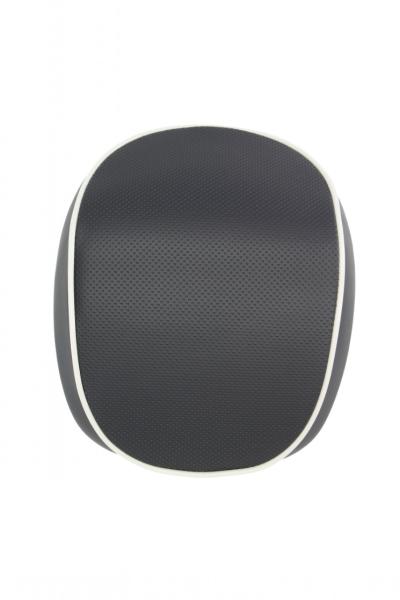 Original schienalino bauletto Vespa Primavera / Sprint, nero con bordino bianco
