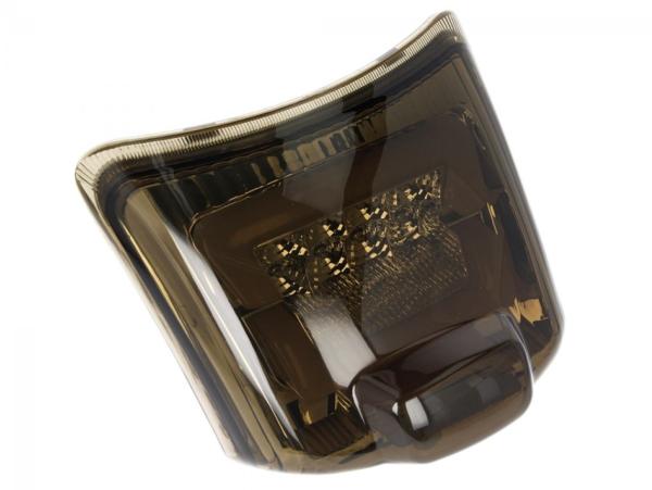 Fanale posteriore a LED nero, omologato E per Vespa GTS / GTV (fino al 2014)