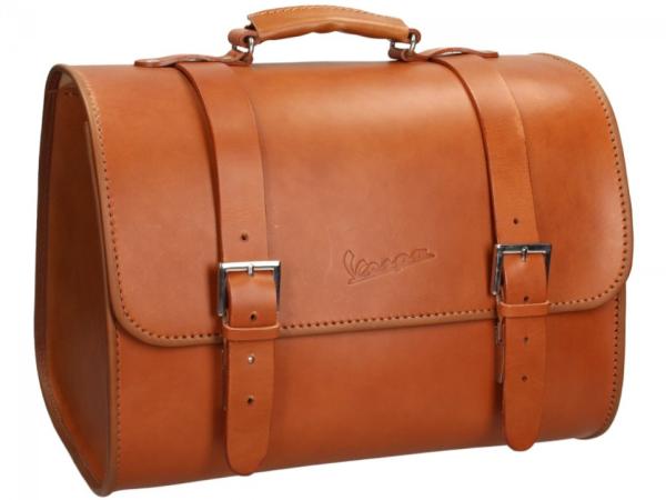 Originale Vespa borsa in vero cuoio - marrone