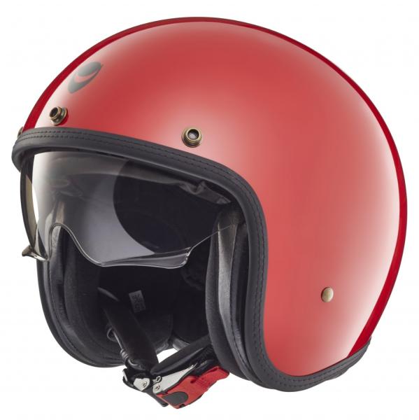 Helmo Milano casco jet, Audace, rosso