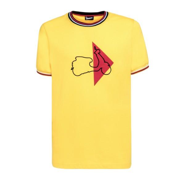 Vespa Modernist T-Shirt uomo giallo