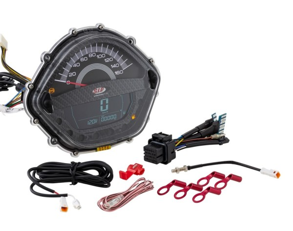 Contagiri/Contachilometri per Vespa GT/GT L 125/200ccm/ GTS 125ccm, carbonio