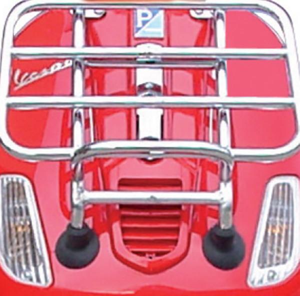 Original Portapacchi anteriore pieghevole cromato Vespa S