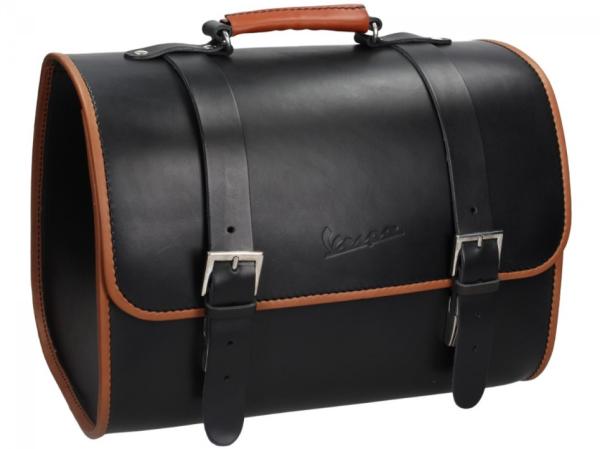 Originale Vespa borsa in vero cuoio - nero