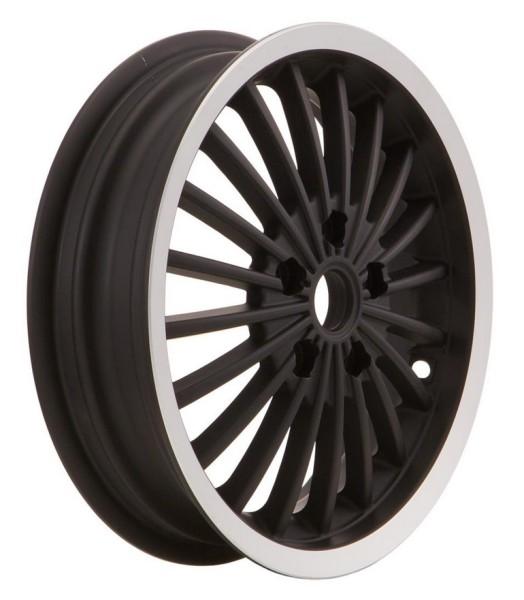 Cerchione anteriore/posteriore per Vespa GTS/GTS Super/GTV/GT 60/GT/GT L 125-300ccm, nero con bordo lucidato